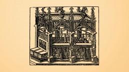 Lichtprojektion der Grabstätte des Bischof Benno im Meißner Dom