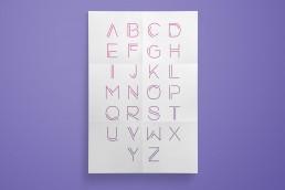 Typografie, Moderne Plakatschriftart